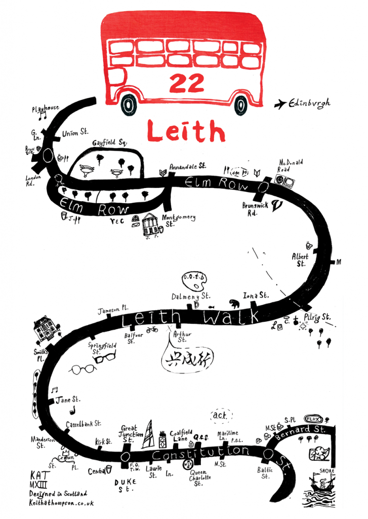 Leith Walk Route Map Design